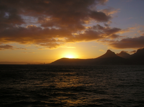 Sunrise in Capetown, South Africa