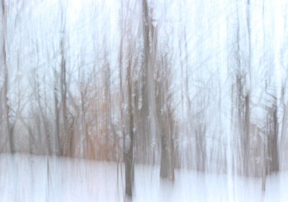 abstract winter scene