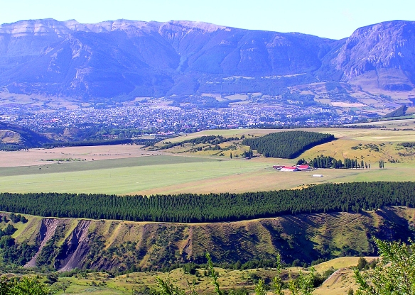 farmland on the plateau in Coyhaique, Chile