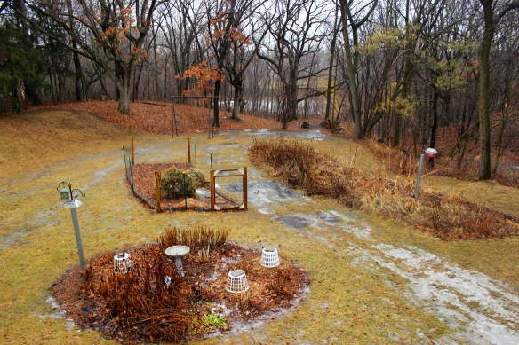 The last remnants of snow were almost gone, and the pond in the background was mostly unfrozen.