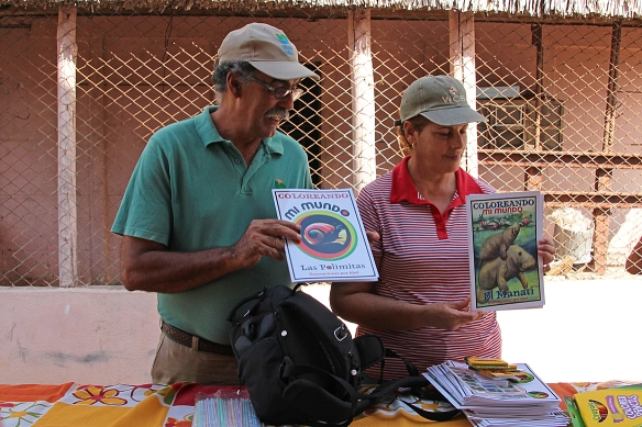 Biologists here also run educational programs for children. To help instill the conservation ethic in the next generation, they use donated materials like coloring books that provide useful facts about Cuba's unique wild species.