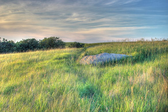 Summer evenings on the prairie are always colorful.