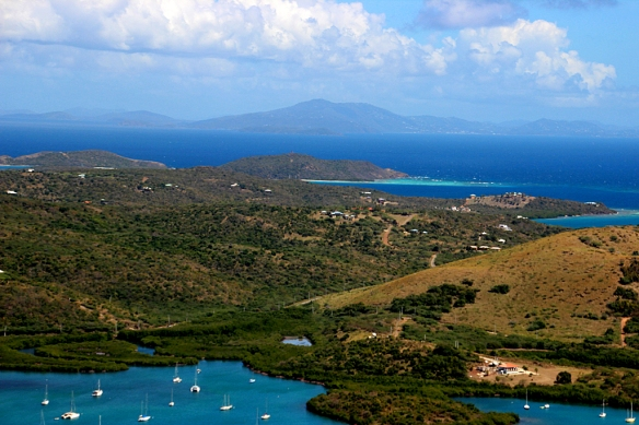 A view of Culebra looking northeast toward St. Thomas, U.S. Virgin Islands