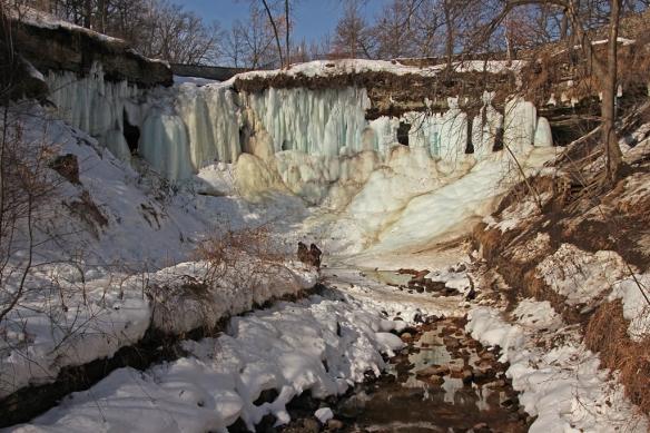 Minnehaha Falls on March 10, 2014