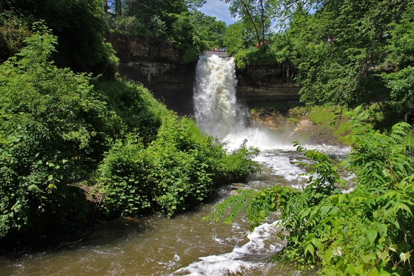 Minnehaha Falls on June 21, 2014 looks quite a bit different than it did three months ago during our -20 F degree weather.
