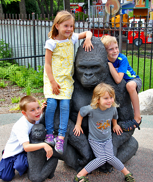 grandkids and gorilla