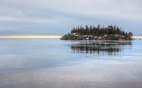 island in Lake Superior near Split Rock lighthouse