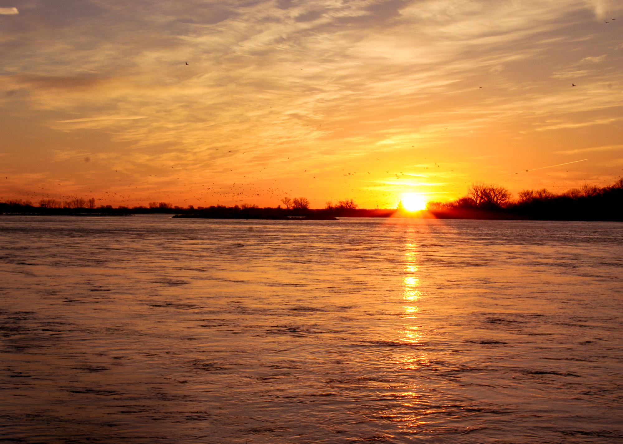 sunrise on the Platte River, NE