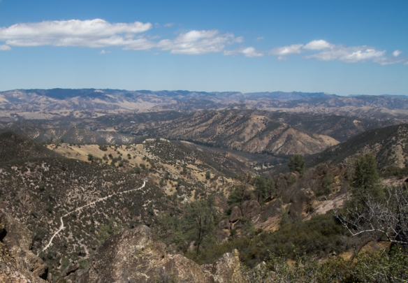 The view from the top of the High Ridge Trail at Pinnacles National Park