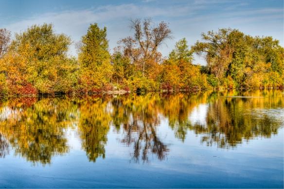 Vadnais reservoir-fall color-
