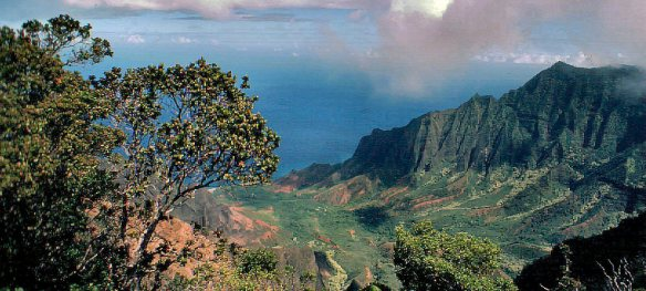 Kalalau valley from Mt. Waialeale--TheZoo