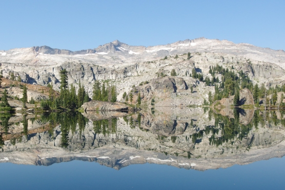 Mirror reflection, Desolation Wilderness, Sierra Nevada