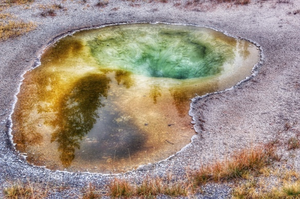 Hot pools in Old Faithful geyser basin