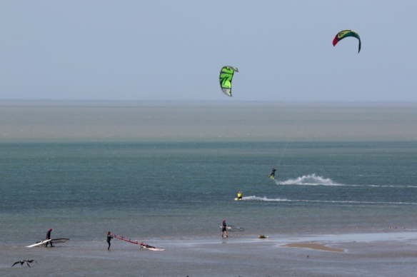 Wind surfers on Laguna Madre