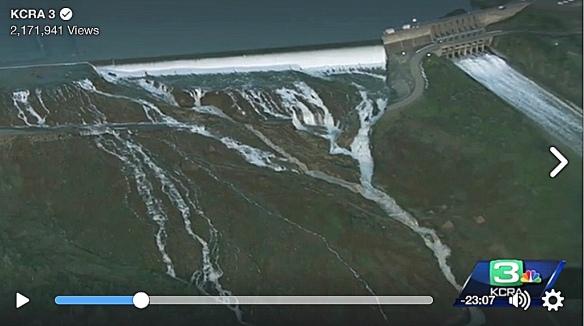 Emergency spillway Oroville dam