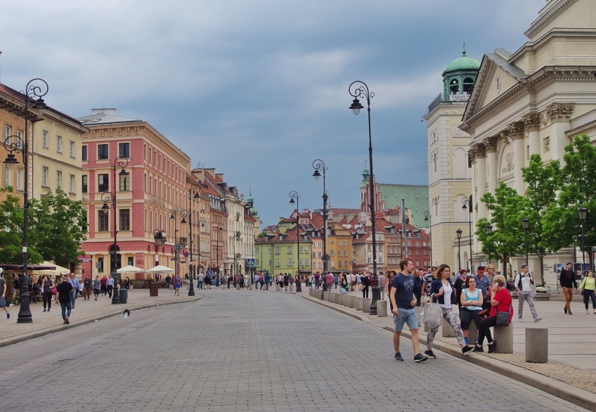 Warsaw looking toward the Old City