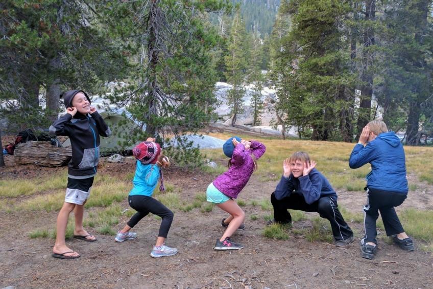 Family hike, High Sierras