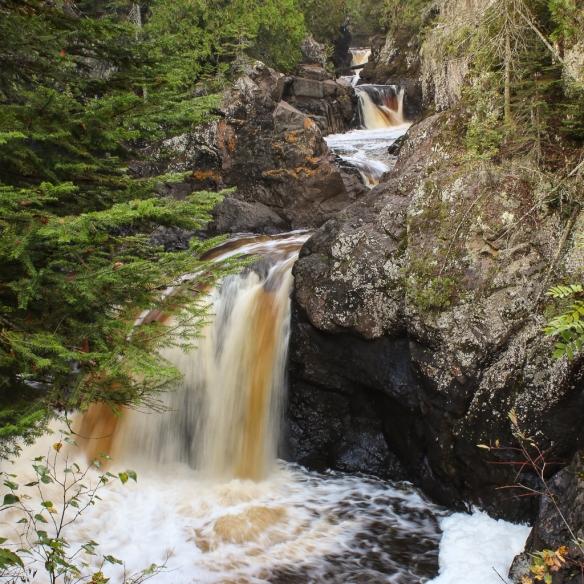 Cascade Falls, north shore drive, MN-2