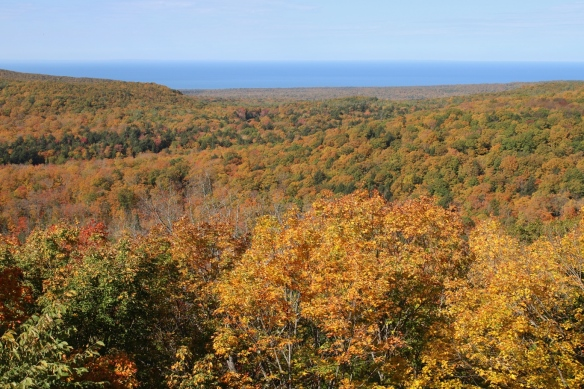 Lake Superior from Summit Peak, Porcupine Mts, Michigan