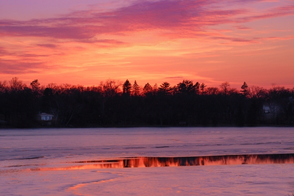 Lake sunset, St Paul, March