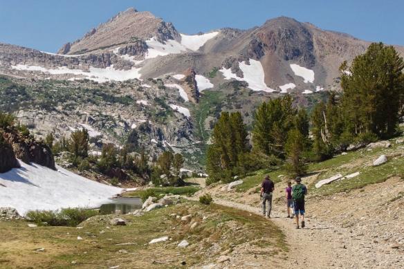 Trail from Saddlebag Lake, Sierra Mountains