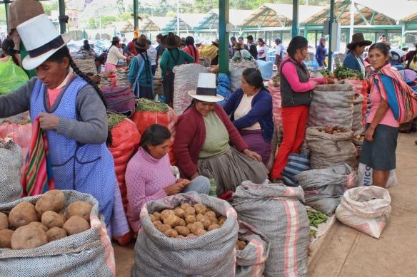Market day in Ollantaytambo, Peru