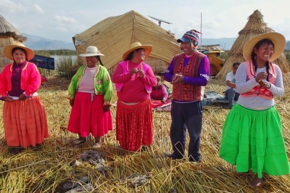 floating village, Uros island, Puno, Peru