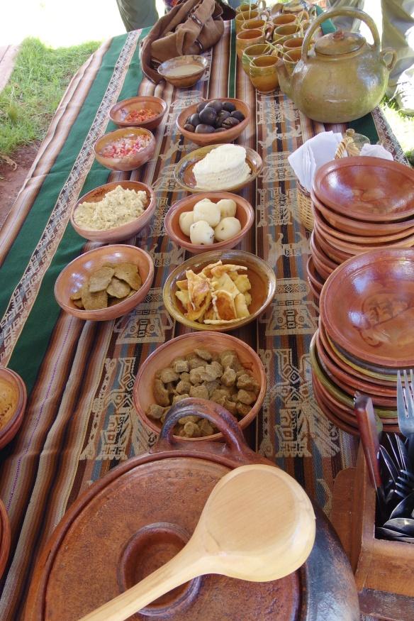 Lunch at an Aymara village, Puno, Peru