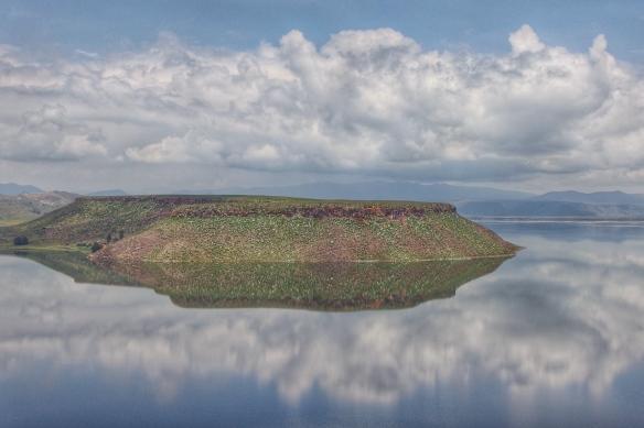 Island in Umayo lake, near Puno, Peru