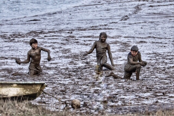 Mud bath on the Norfolk coast