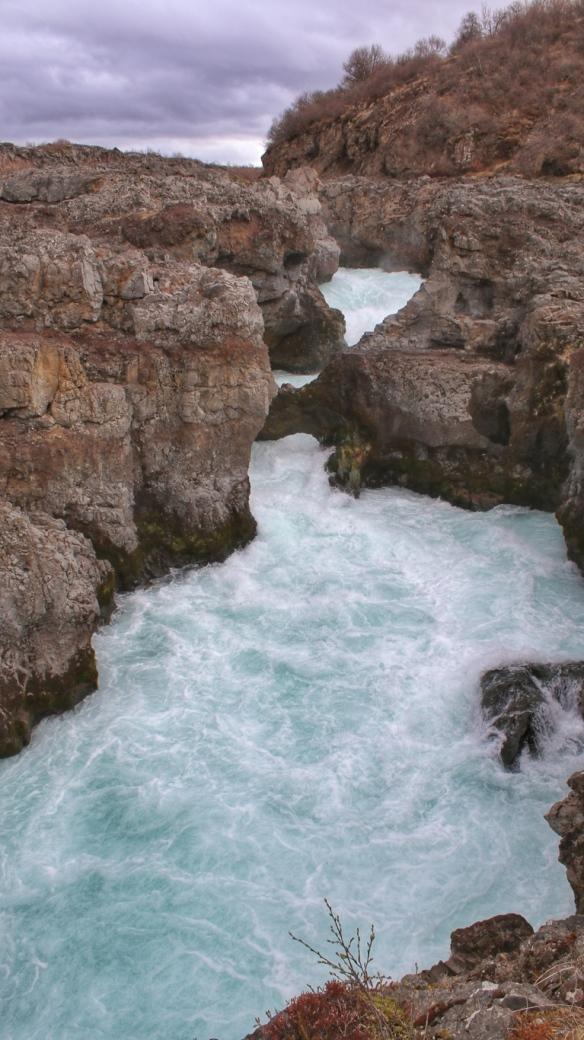 Barnafossar waterfalls, Iceland