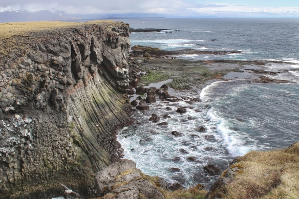 Sea cliffs at Arnastapi, Iceland