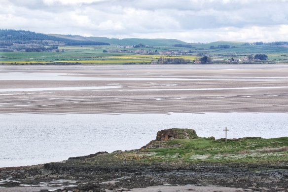 View of the Northumberland coast from Holy Island