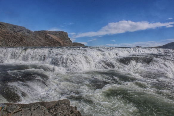 Gullfoss waterfall uppermost falls