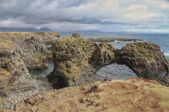 Natural arch, Arnastapi, Iceland