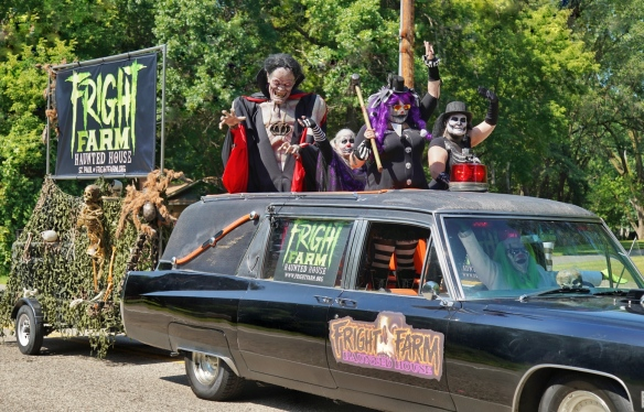 haunted house monsters in the parade