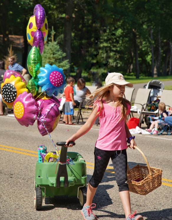 Girl in the parade