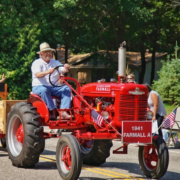Tractors in the parade