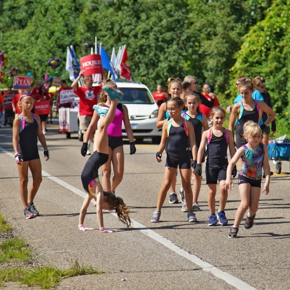 Gymnasts in the parade