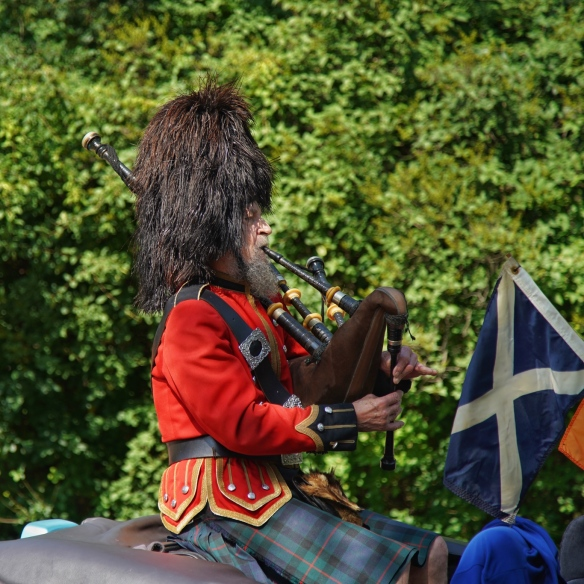 Bagpiper in the parade