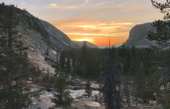 Sunset, Glen Aulen High Sierra Camp, Yosemite, CA