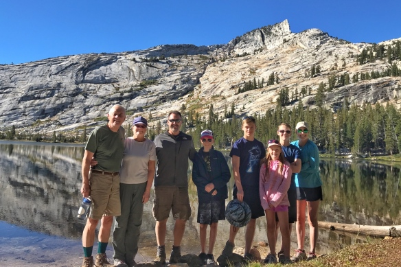 High Sierra hike, Cathedral lake