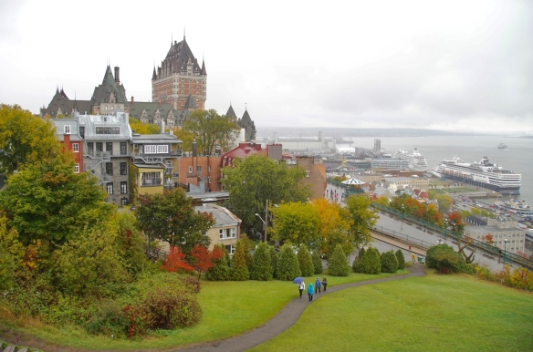 View from the upper town of Port Quebec
