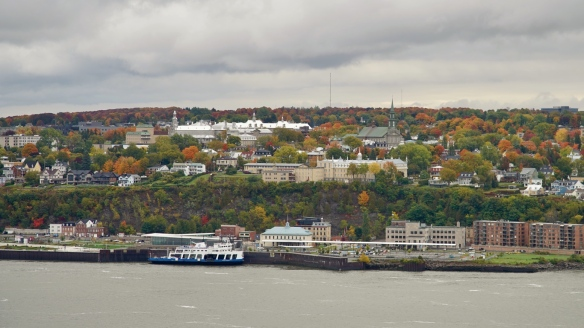 View across the St. Lawrence seaway from Quebec City