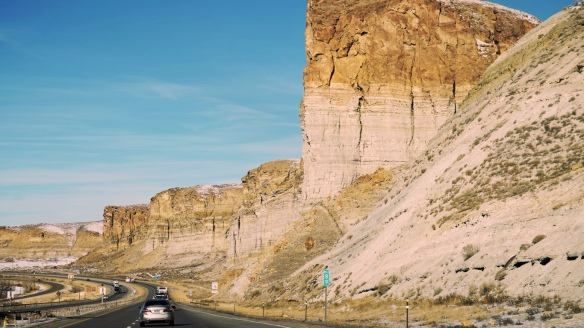 Wyoming cliffs near Rock Springs