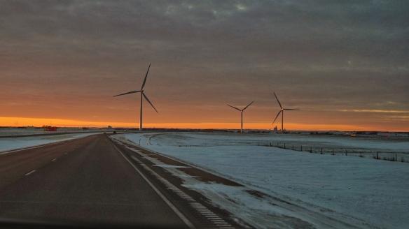 Wind turbines near Chamberlain, SD