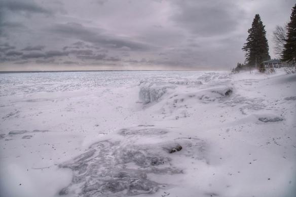 Lake Superior ice at Todte, MN