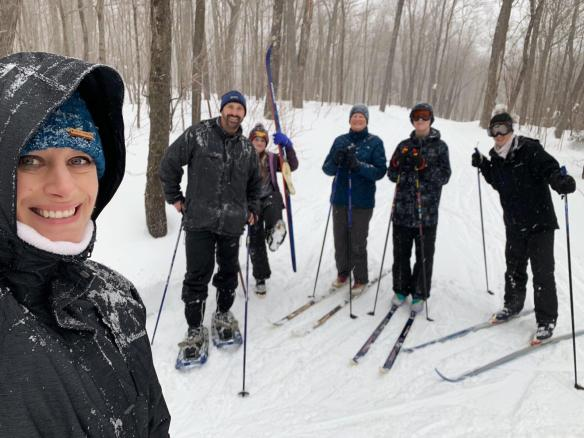Cross-country skiing, Sugar Bush, Tofte, MN